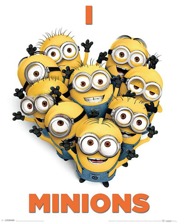 Despicable Me 2 Poster Pack I Love Minions 40 x 50 cm (5)