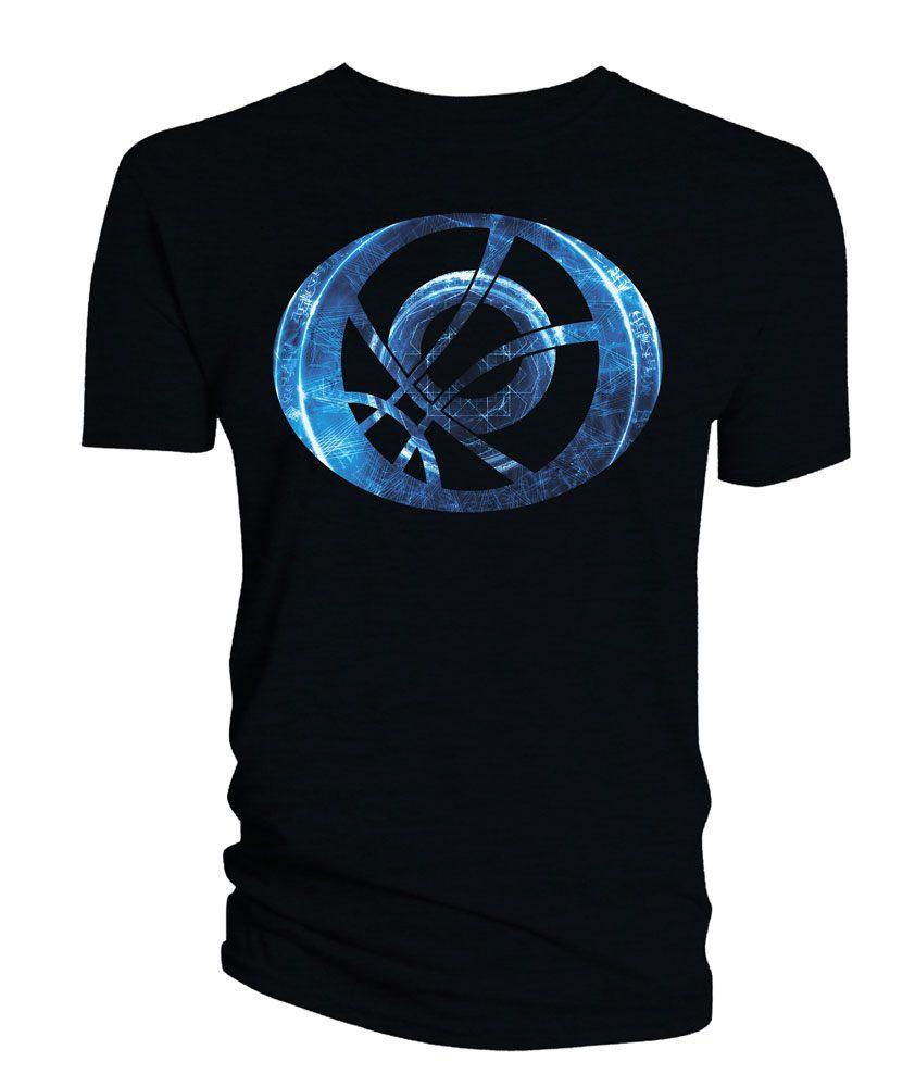 Doctor Strange T-Shirt Blue Symbol Oblong black Size M