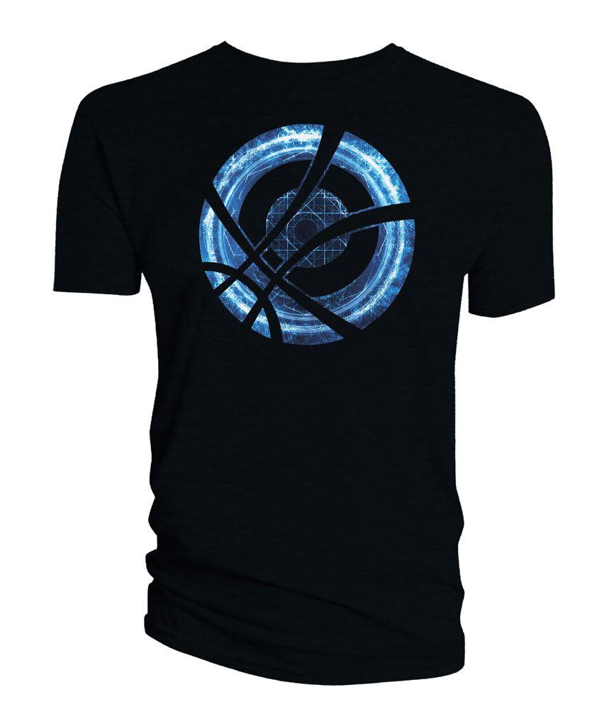 Doctor Strange T-Shirt Blue Symbol Circle black Size L