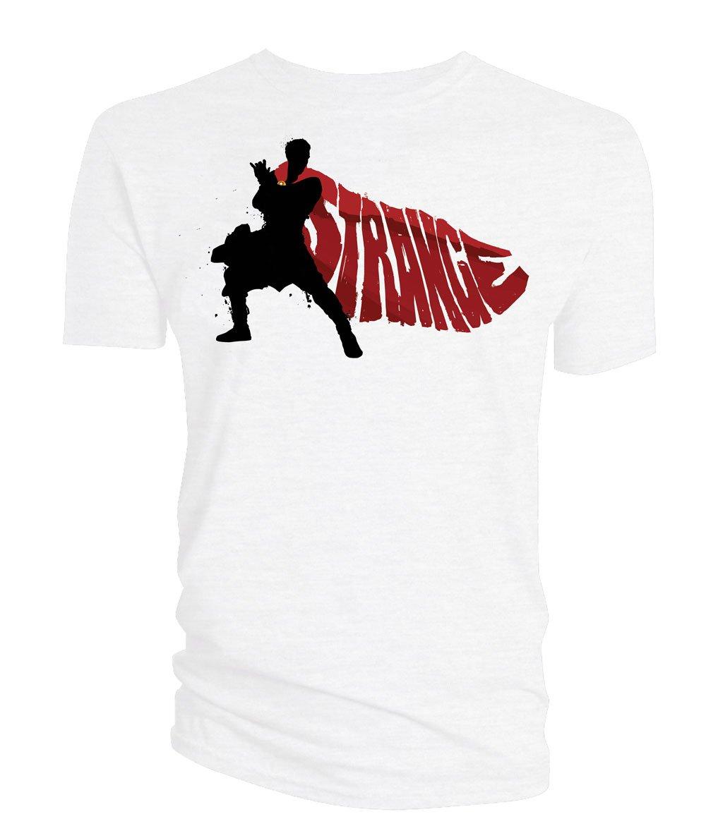 Doctor Strange T-Shirt Cape Vector white Size S