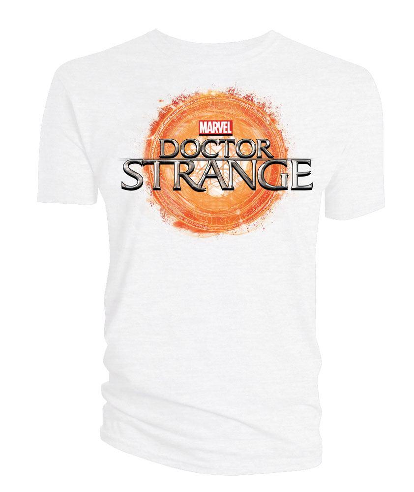 Doctor Strange T-Shirt Logo white Size L