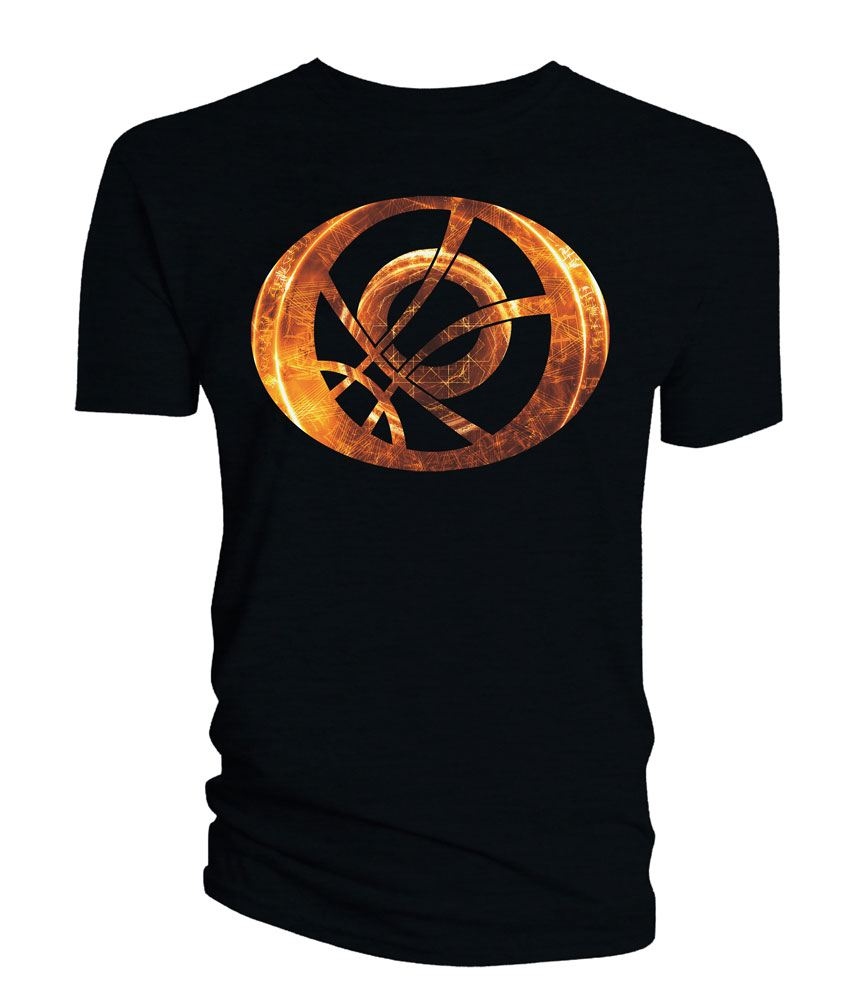 Doctor Strange T-Shirt Orange Symbol Oblong black Size S