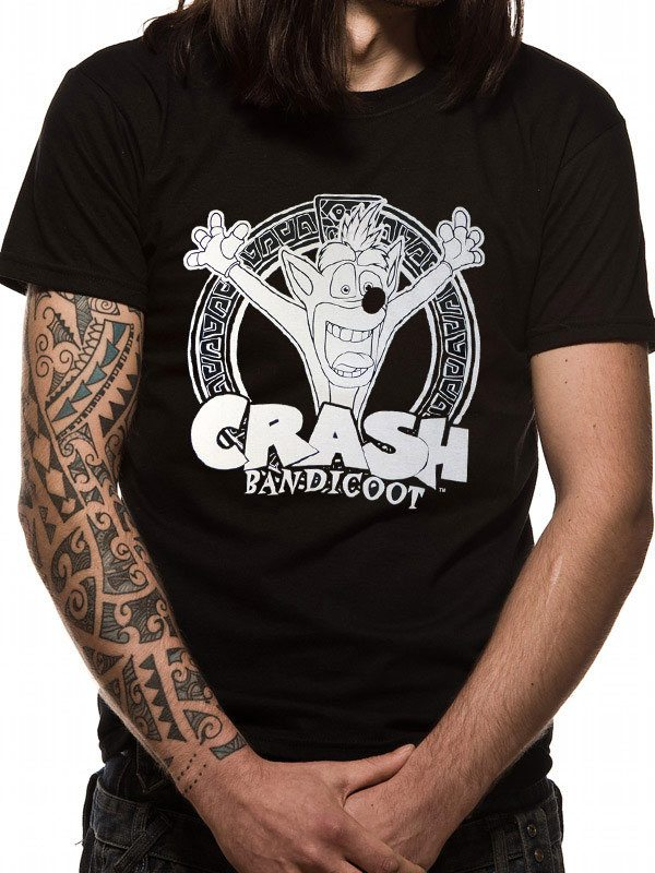 Crash Bandicoot T-Shirt Black And White Size L