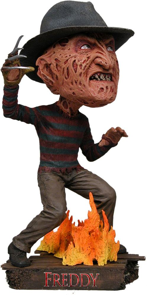 Nightmare on Elm Street Head Knocker Bobble-Head Freddy Krueger 18 cm