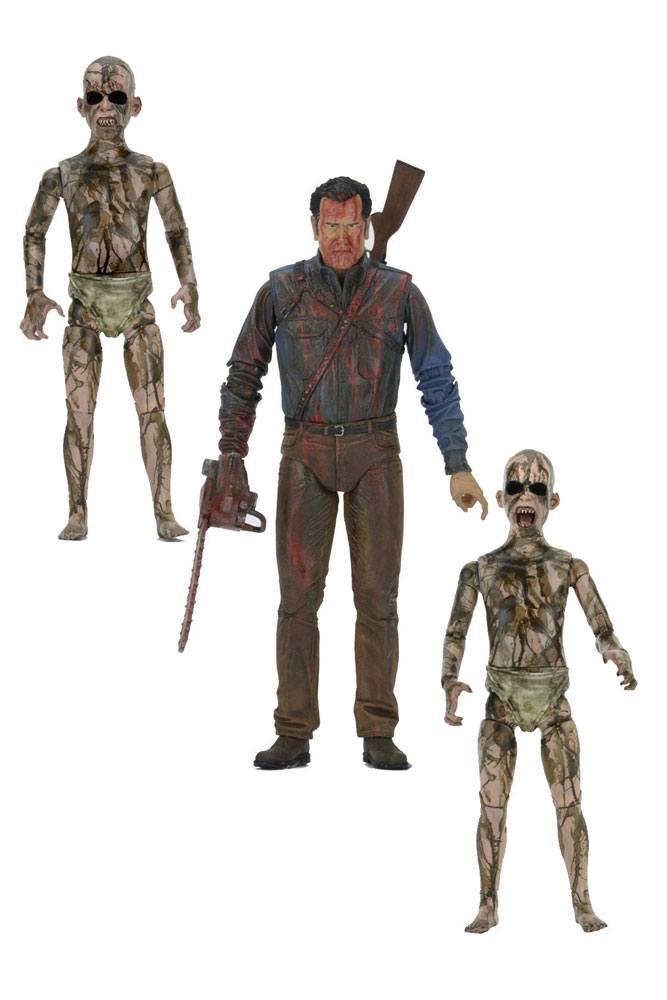 Ash vs. Evil Dead Action Figures 3-Pack Bloody Ash vs Demon Spawn 14-18 cm