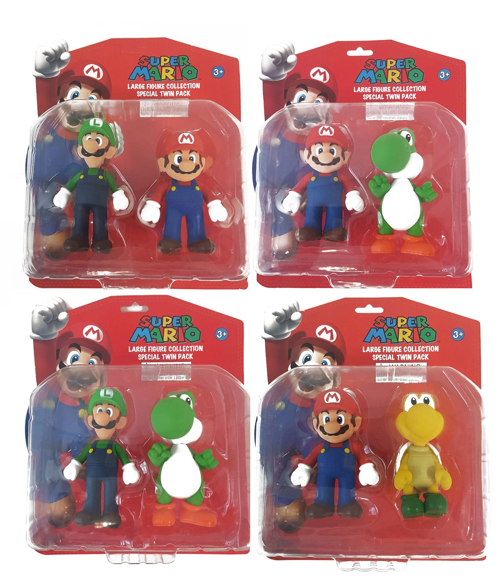 Super Mario Large Collection Action Figures 12 cm 2-Packs Assortment (8)