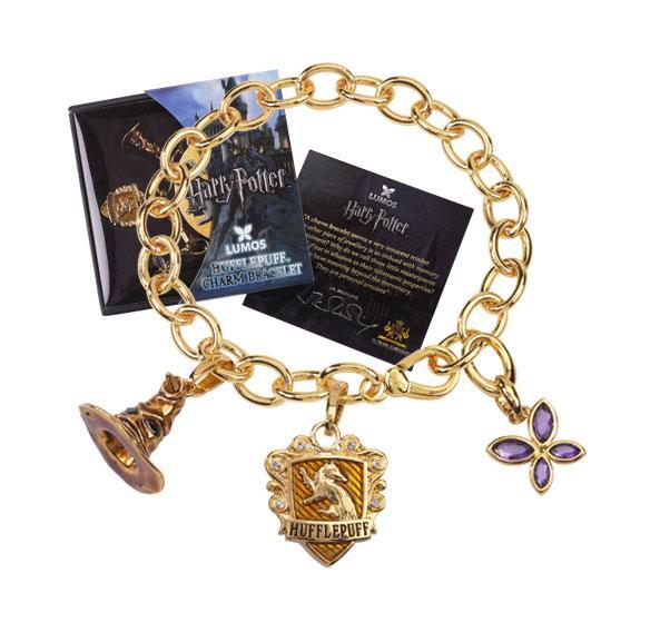 Harry Potter Charm Bracelet Lumos Hufflepuff (gold plated)
