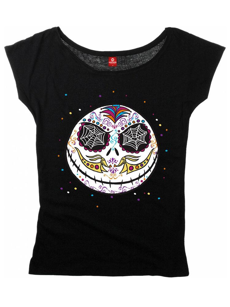 Nightmare Before Christmas Ladies T-Shirt Sugarskull Dots Size S