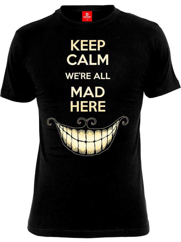 Alice in Wonderland T-Shirt Keep Calm Size L