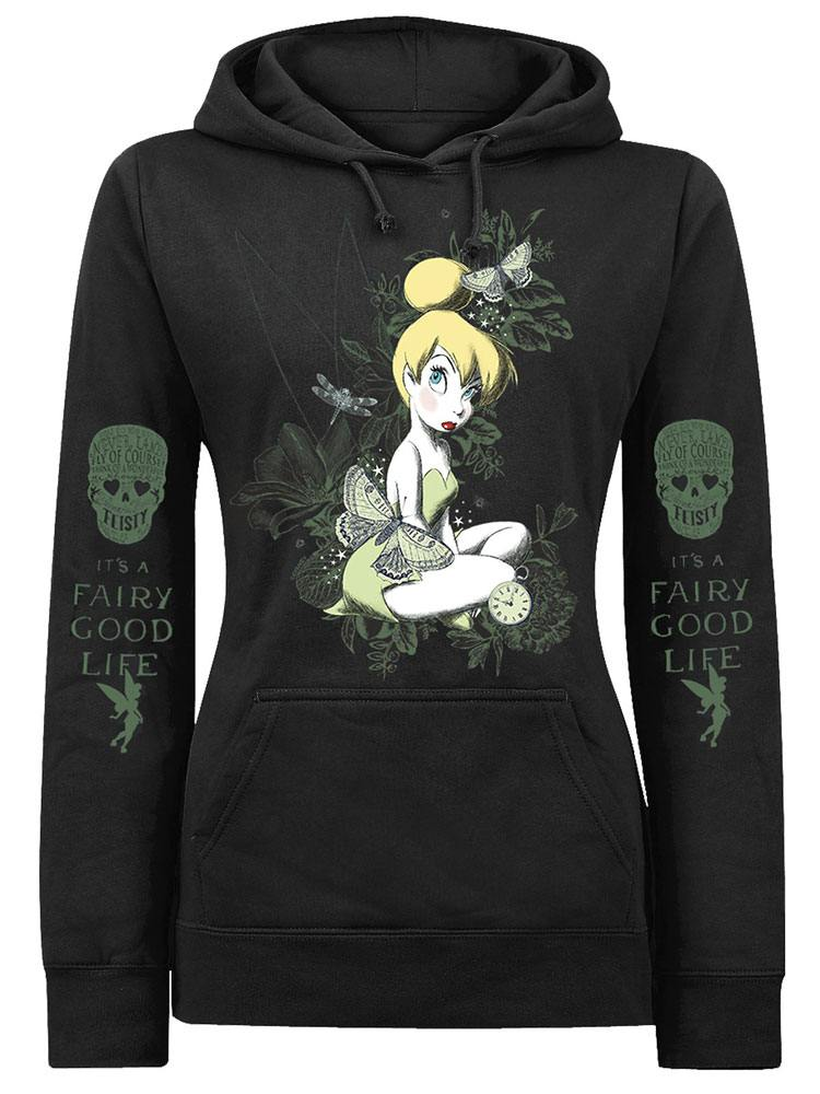 Disney Ladies Hooded Sweater It's A Fairy Good Life Size L