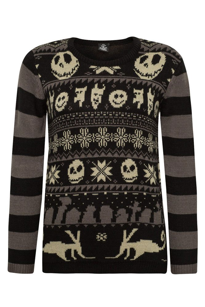 Nightmare Before Christmas Ladies Knitted Sweater XMAS Size XL