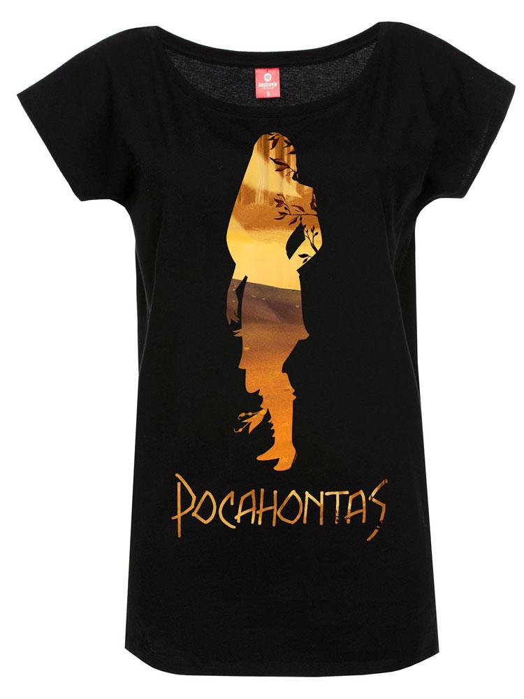 Pocahontas Ladies T-Shirt In The Woods Size L