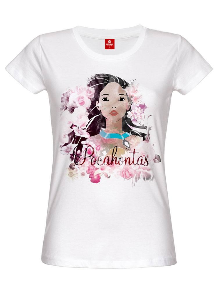 Pocahontas Ladies T-Shirt Indian Flower Size L