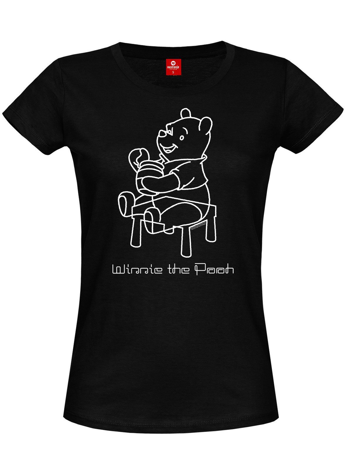Winnie the Pooh Ladies T-Shirt Sketchy Pooh Size L