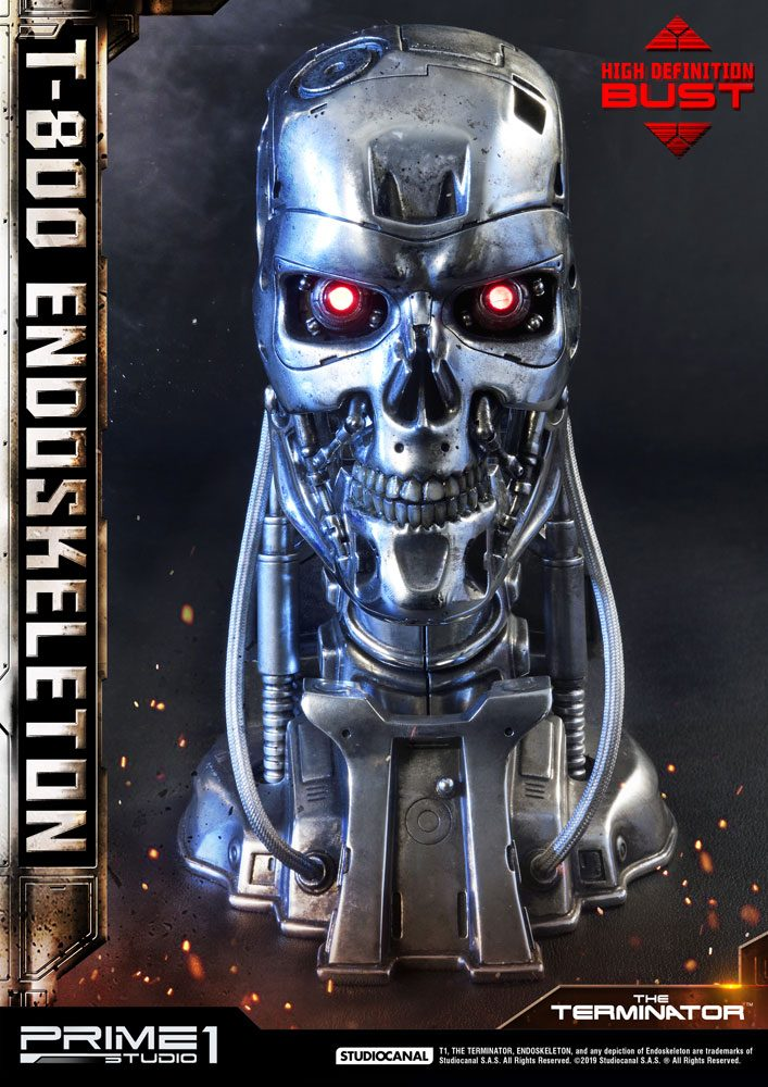 T-800 Endoskeleton Head The Terminator High Definition 1/2 Bust by Prime 1 Studio
