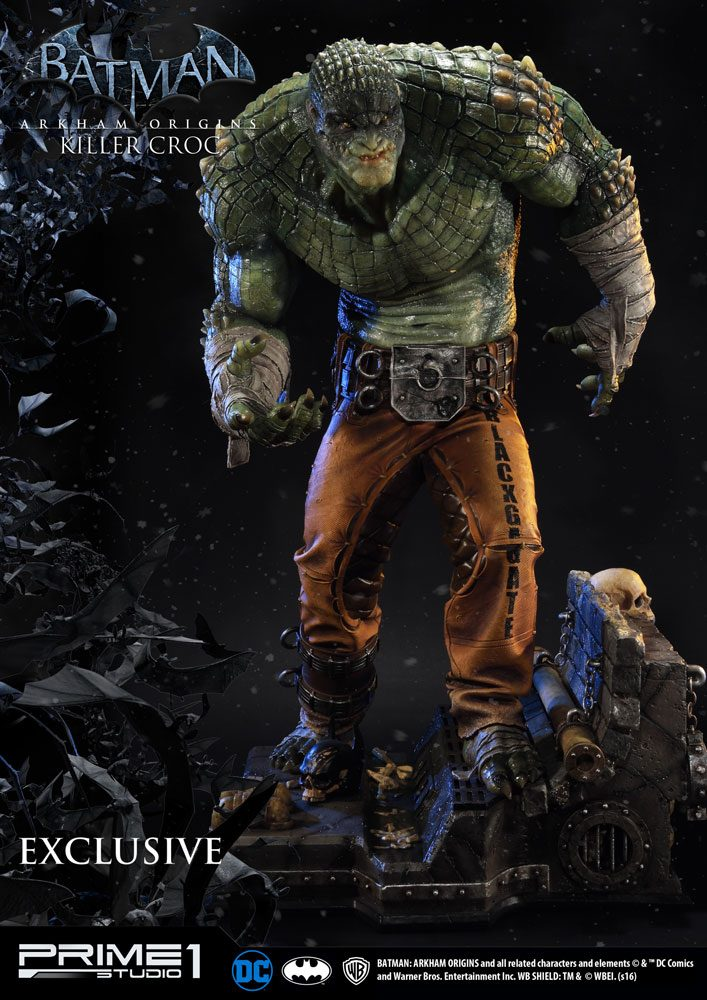 Batman Arkham Origins Statue Killer Croc & Killer Croc Exclusive 90 cm Assortment (3)