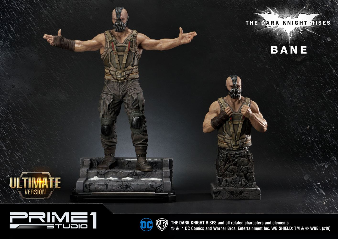 Bane Ultimate Edition Set The Dark Knight Rises 1/3 Scale Statue & Bust by Prime 1 Studio