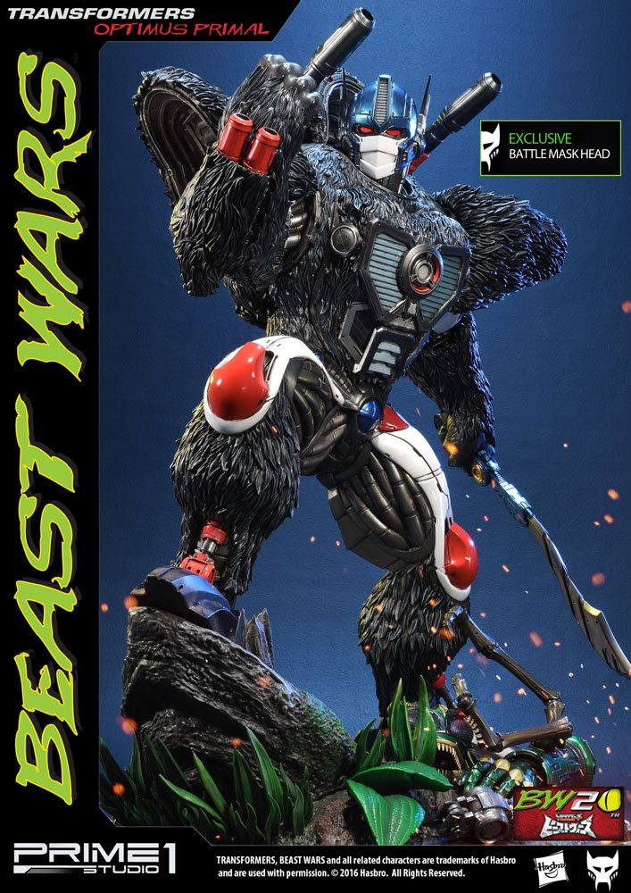 Transformers Beast Wars 1/3 Statues Optimus Primal & Optimus Primal Exclusive 63 cm Assortment (3)