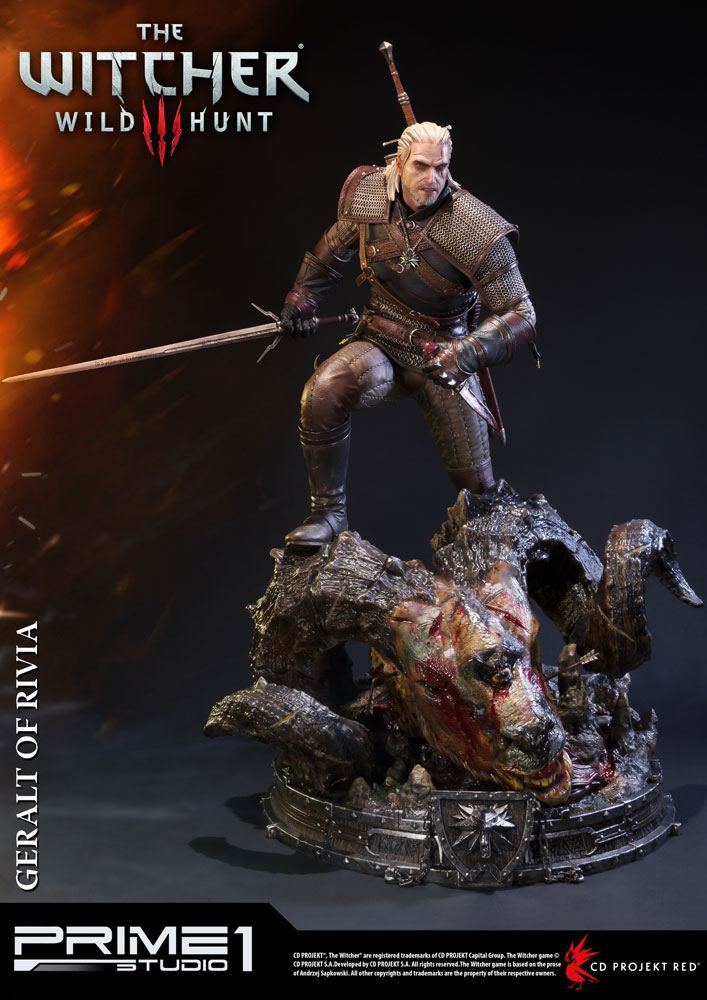 Witcher 3 Geralt of Rivia Statue by Prime 1 Studio