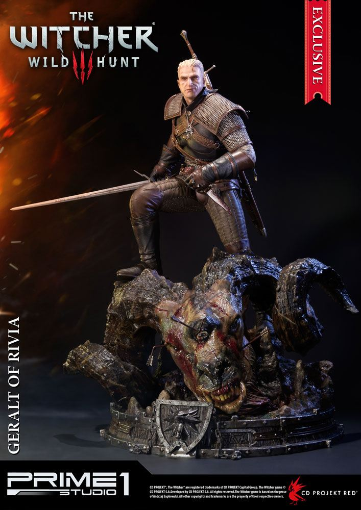 Witcher 3 Wild Hunt Statues Geralt & Geralt Exclusive 66 cm Assortment (3)