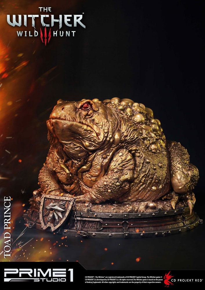 Witcher 3 Hearts of Stone Statue Toad Prince of Oxenfurt Gold Ver. 34 cm