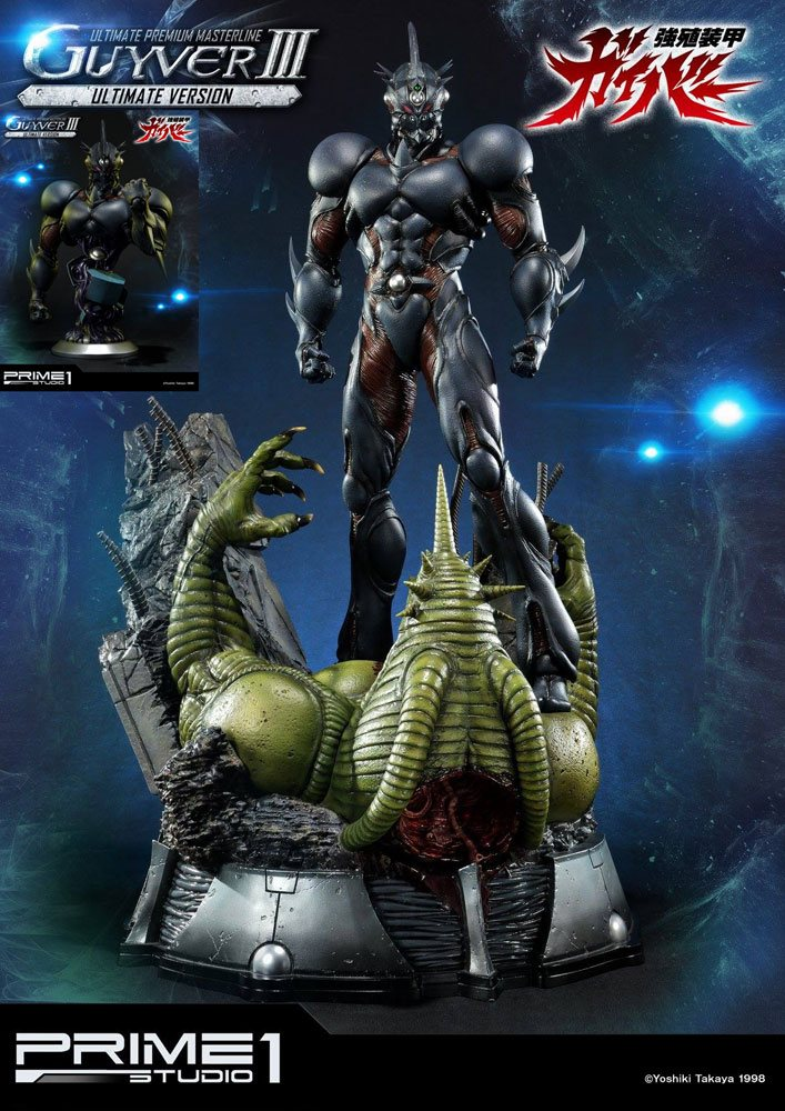 Guyver III Guyver The Bioboosted Armor Statue & Bust Ultimate Edition Set by Prime 1 Studio