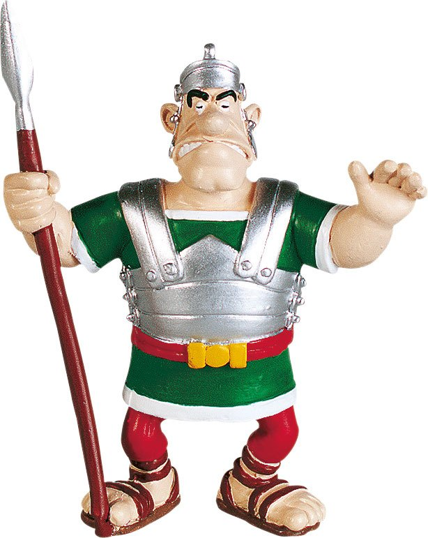 Asterix Figure The legionaire with his lance 8 cm