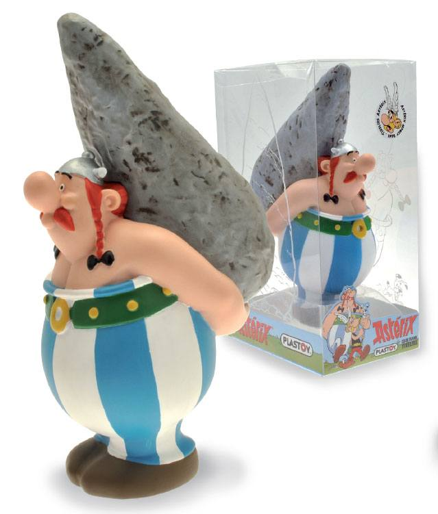 Asterix Bust Bank Obelix On Menhir 18 cm