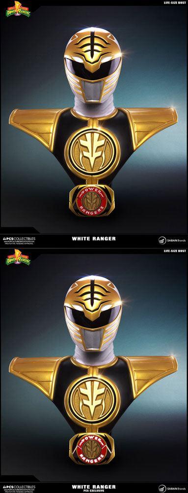Power Rangers Busts 1/1 White Ranger & White Ranger PCS Exclusive Set 63 cm