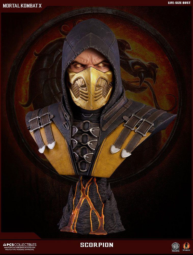 Mortal Kombat X Bust 1/1 Scorpion 76 cm