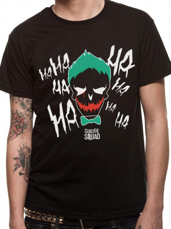 Suicide Squad T-Shirt Cartoon Joker Size M