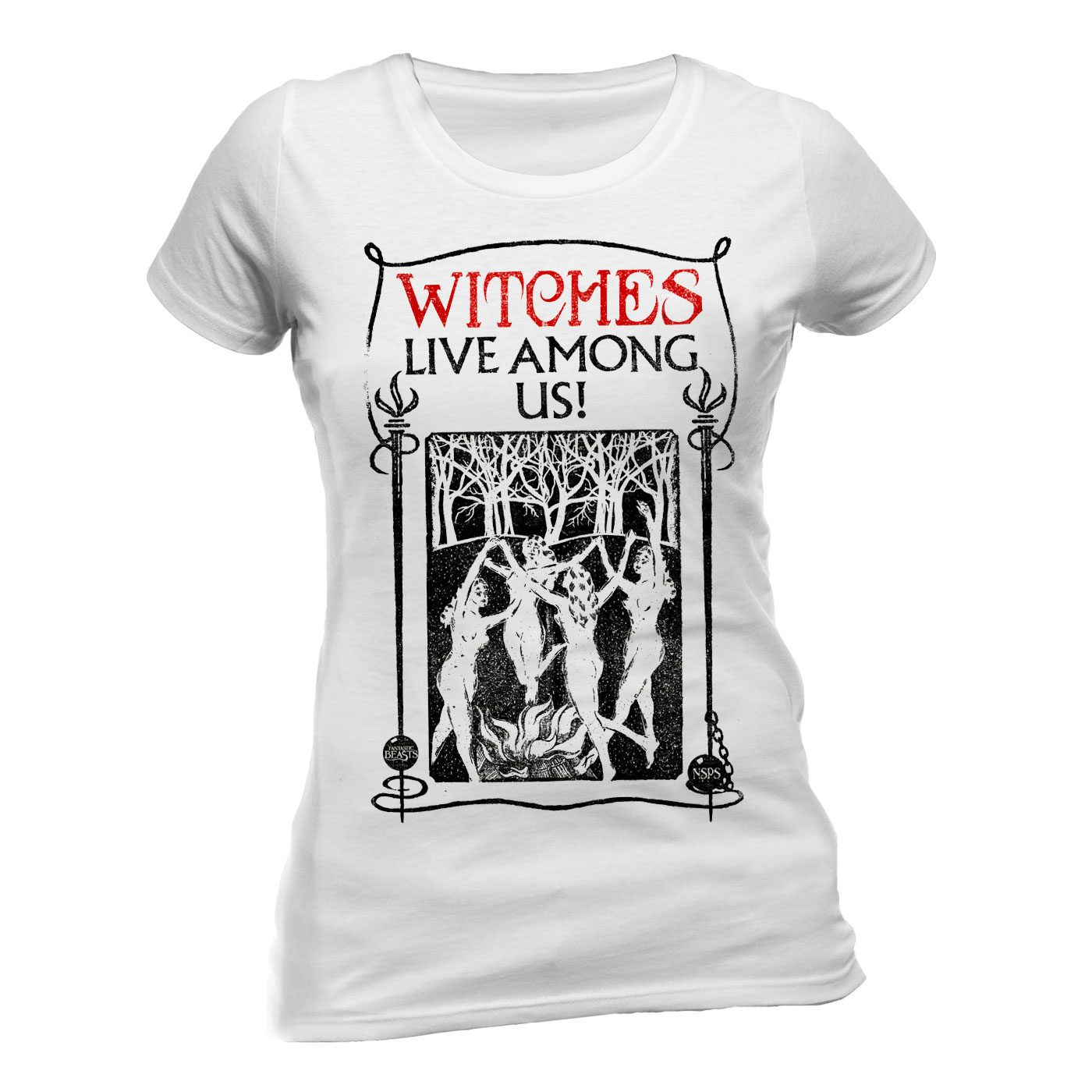 Fantastic Beasts Ladies T-Shirt Witches Size L