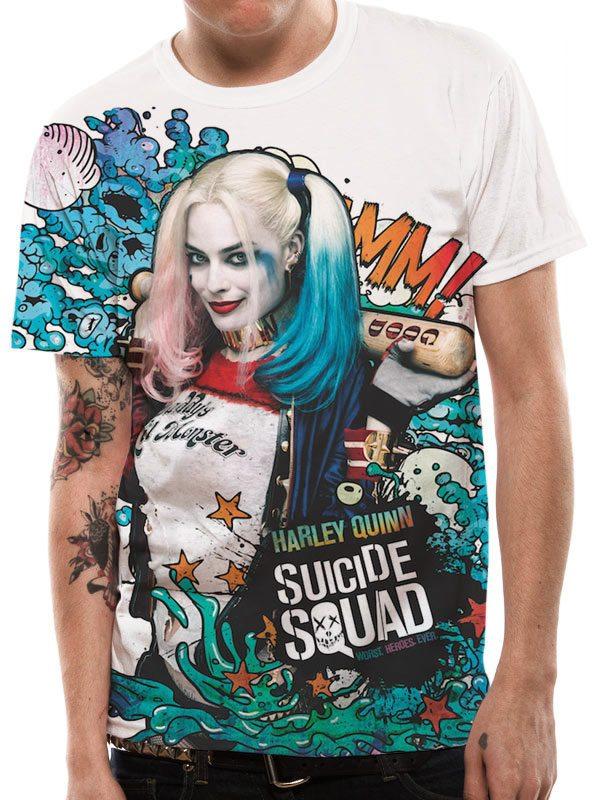 Suicide Squad Sublimation T-Shirt Grafitti Size XXL