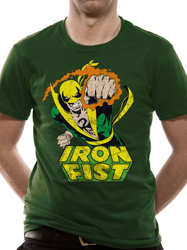 Marvel Comics T-Shirt Iron Fist Size XL