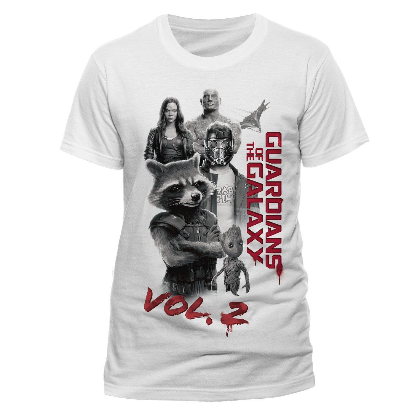 Guardians of the Galaxy 2 T-Shirt Characters Size L