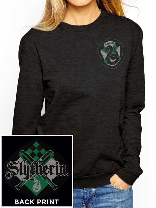 Harry Potter Ladies Crewneck Sweatshirt House Slytherin Size S