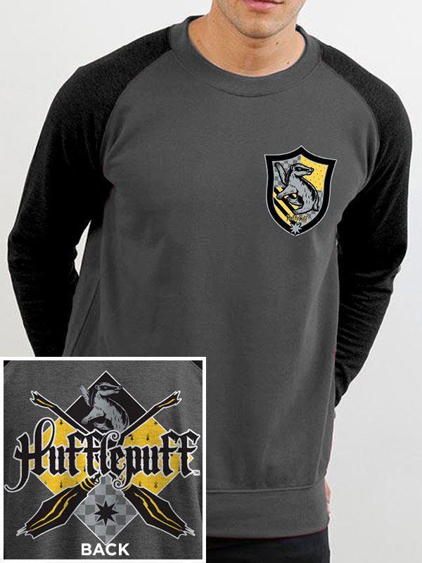 Harry Potter Baseball Long Sleeve Shirt House Hufflepuff Size XXL