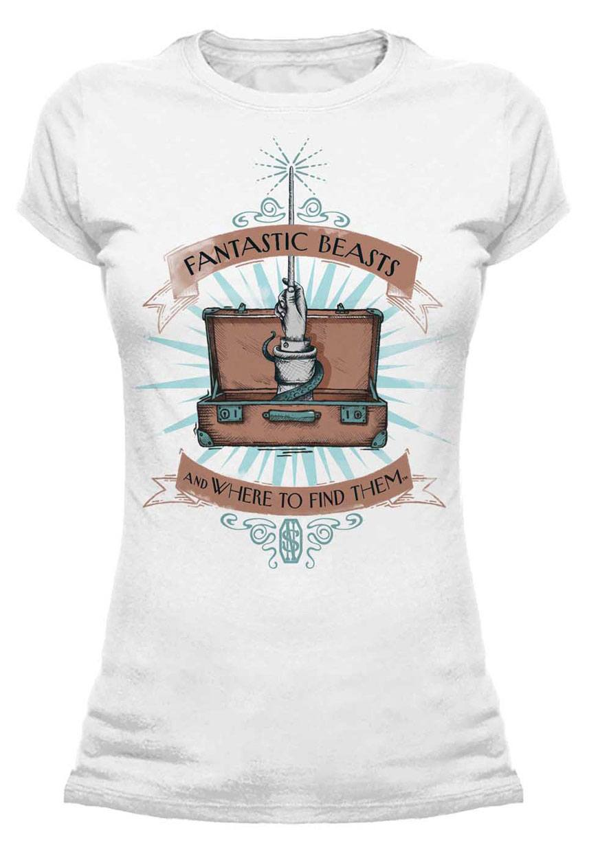 Fantastic Beasts Ladies T-Shirt Wand Case Size M