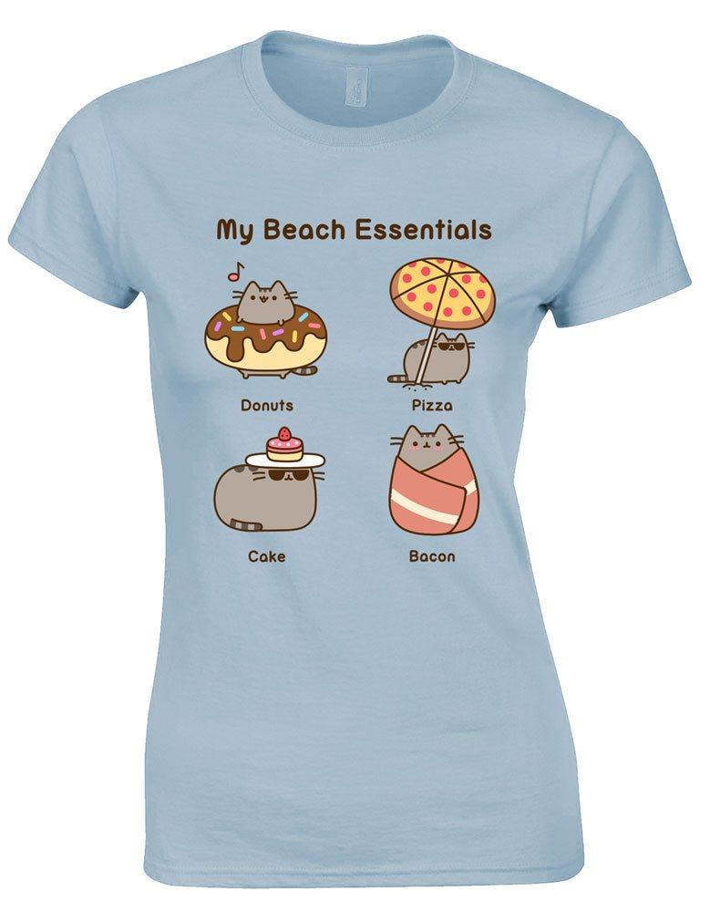 Pusheen Ladies T-Shirt Beach Essentials Size XL