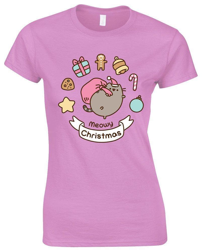 Pusheen Ladies T-Shirt Meowy Christmas Size S
