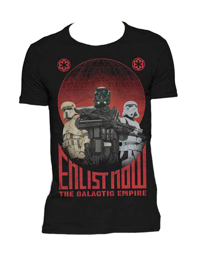 Star Wars Rogue One T-Shirt Enlist Now Size S