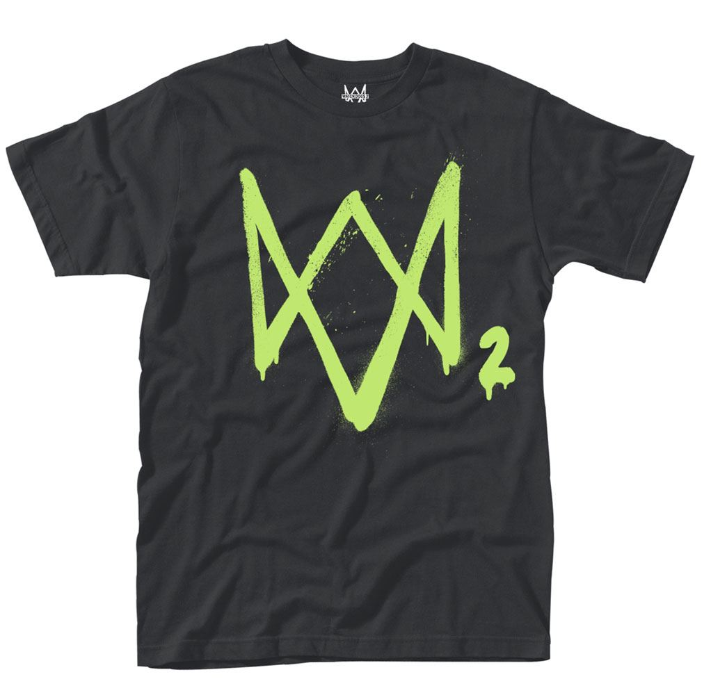 Watch Dogs 2 T-Shirt Neon Logo Size S