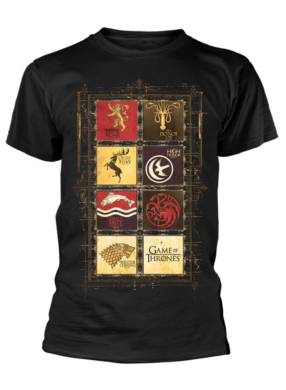 Game of Thrones T-Shirt Block Sigils Size S