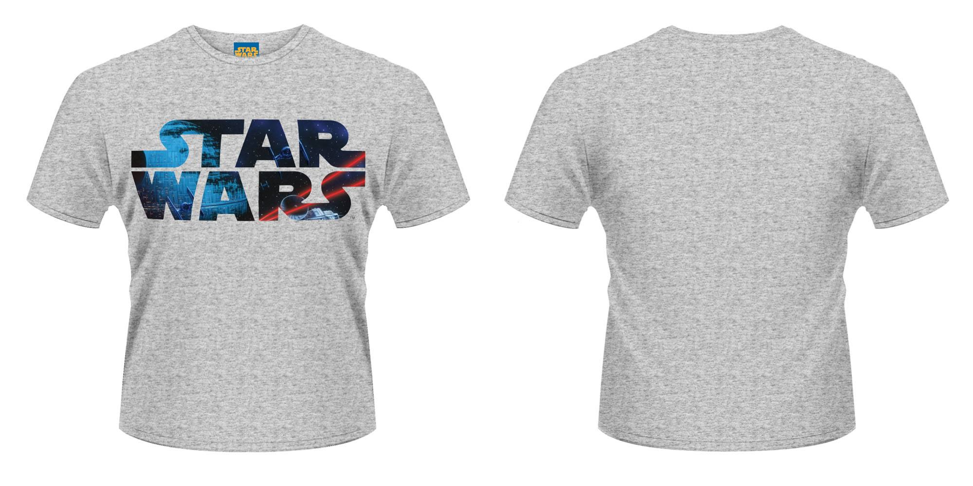 Star Wars T-Shirt Space Logo Size XL