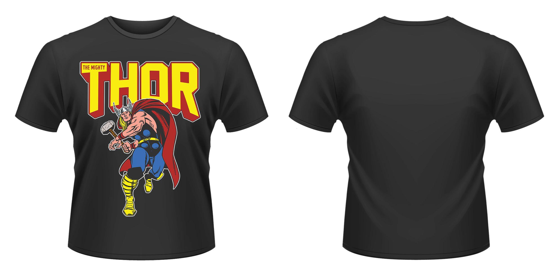 Marvel Comics T-Shirt Thor Leap Size XL