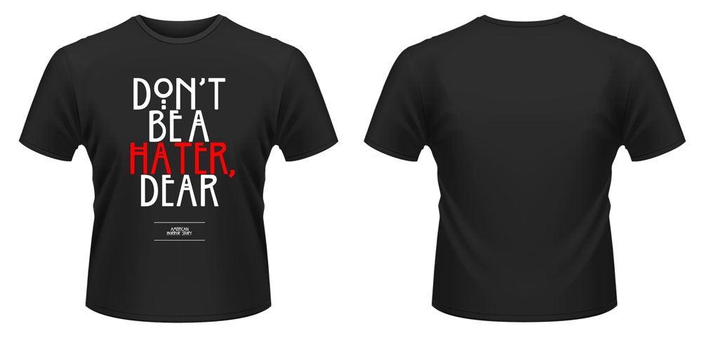 American Horror Story T-Shirt Dont Be A Hater Size L
