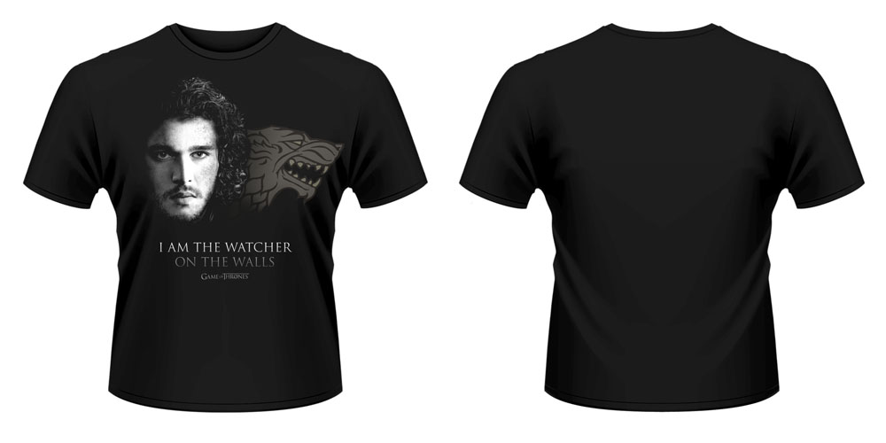 Game of Thrones T-Shirt Watcher On The Walls Size S