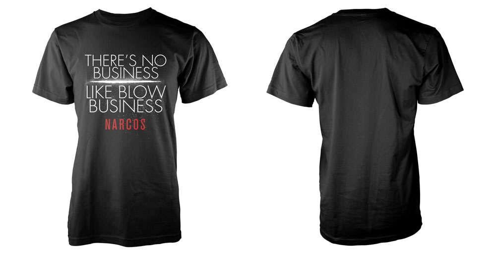 Narcos T-Shirt No Business Like Size S
