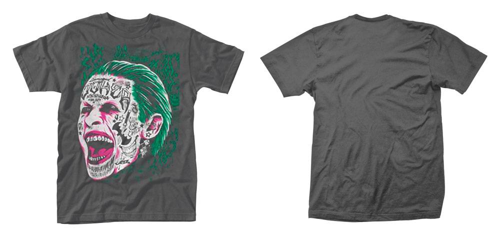 Suicide Squad T-Shirt Joker Tattooed Face Size XL