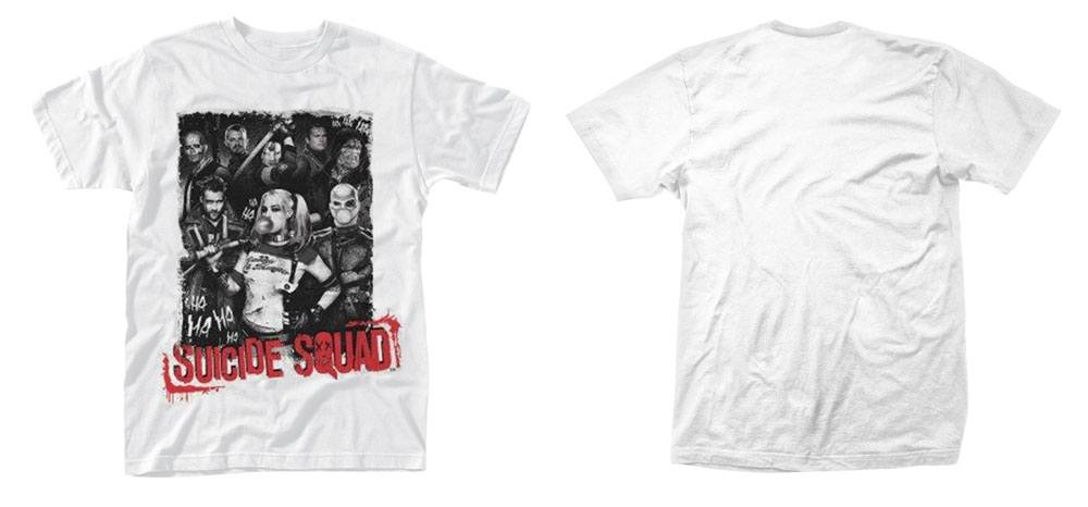 Suicide Squad T-Shirt Pose Red Text Size S